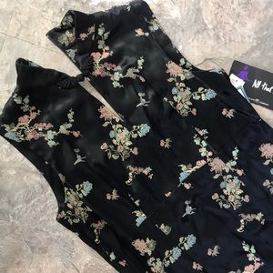 New Asian style black maxi dress